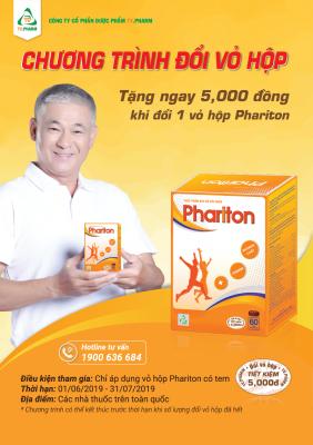 Đổi vỏ hộp Phariton - TV.PHARM
